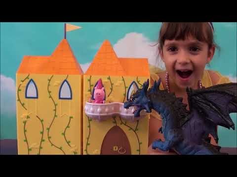 Peppa Pig: Peppa Pig Princess Story: Peppa Pig Enchanting Tower and Dragon Toy Sets, Peppa Pig Show