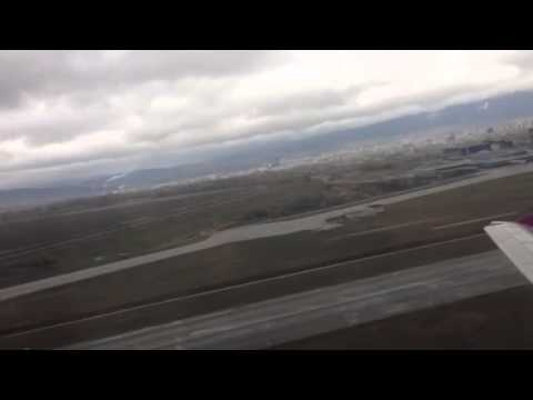 Taking of from Sofia (Bulgaria) airport