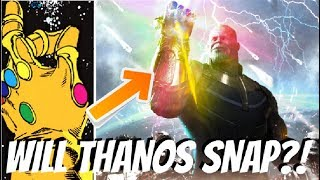 Will Thanos ACTUALLY Snap His Fingers?! - Avengers Infinity War Theory