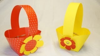 Repeat youtube video basteln zu Ostern: Osterkorb / Osterkörbchen basteln.... How to make an Easter Basket!