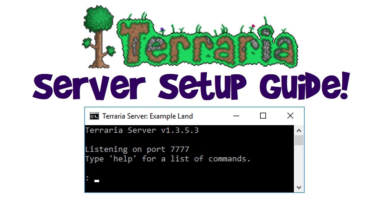 How to Make a Terraria Server to Play Multiplayer! (Tutorial 1 3