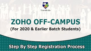 Zoho Off Campus for 2020 & Earlier Batches ! | Off Campus Update by Talent Battle !