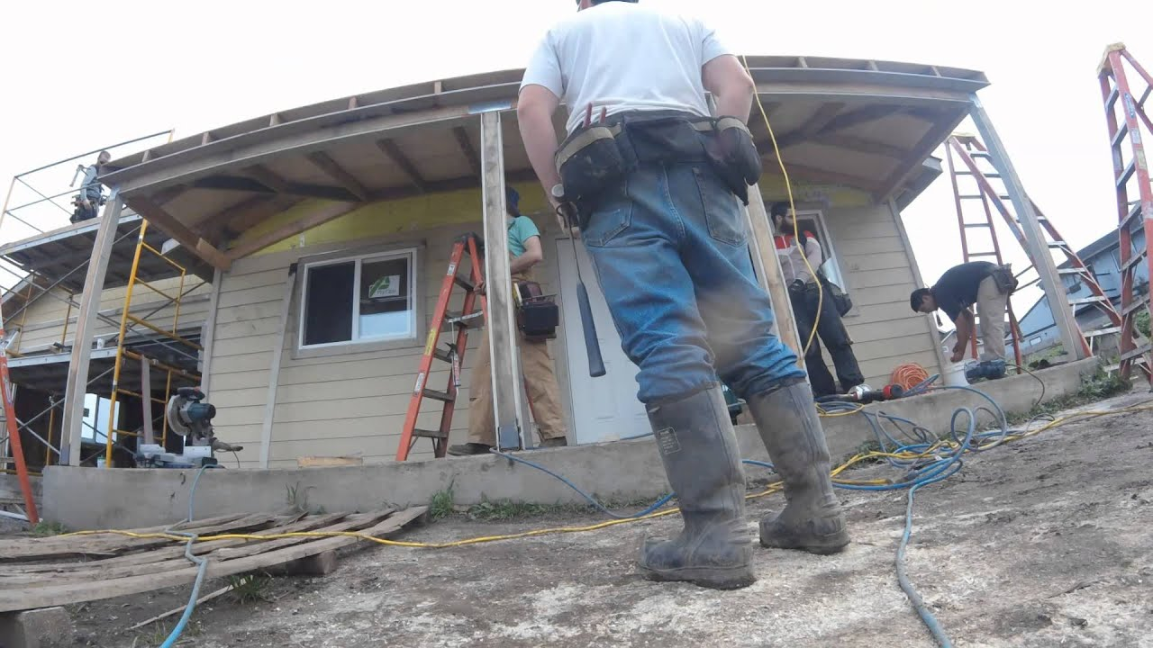 Hip Roof Porch Timelapse Youtube