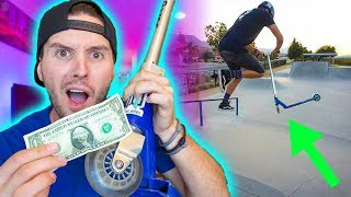 $1 DOLLAR THRIFT SHOP PRO SCOOTER TRICKS AT SKATEPARK