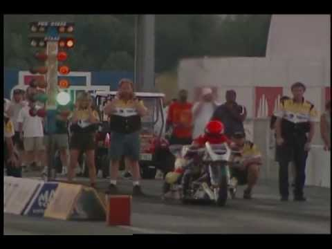 Motorcycle Drag Racing 2004 AMA/PROSTAR Thunder Nationals Top Fuel Round 1