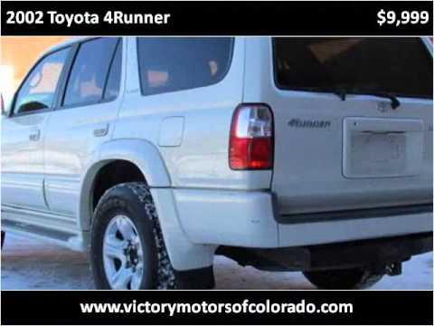 2002 toyota 4runner used cars longmont co youtube for Victory motors trucks longmont