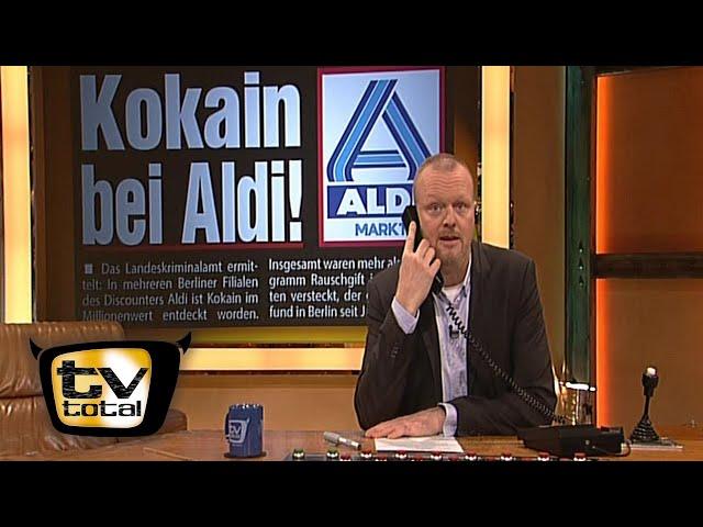 Stefan hat einen heißen Draht zu Aldi - TV total