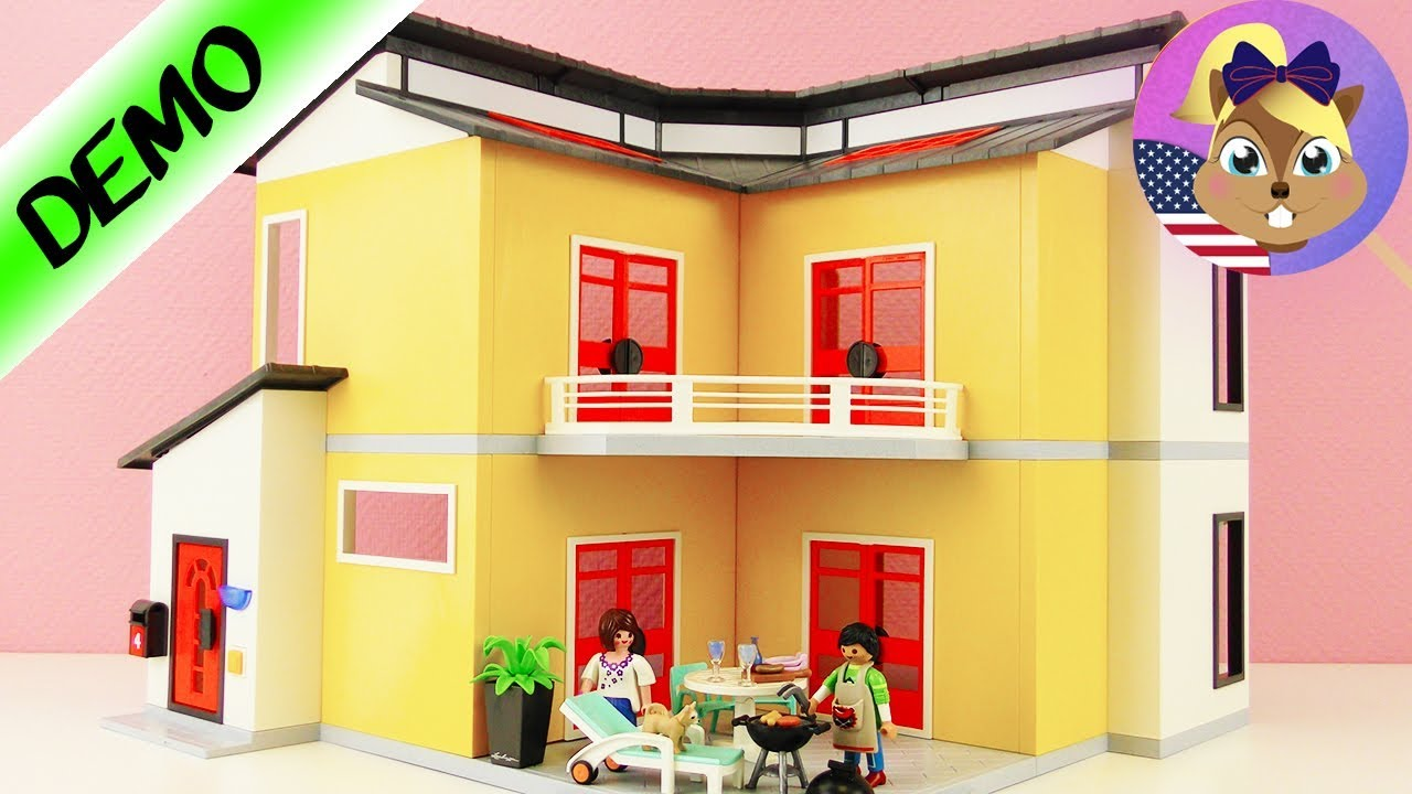 Playmobil modern house 9266 unpacking and building play for Modern house roleplay