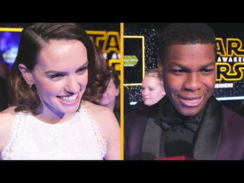 Star Wars: The Force Awakens Cast Red Carpet Interviews | Oh My Disney