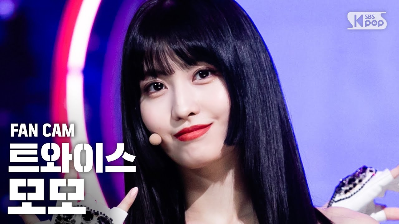 [안방1열 직캠4K] 트와이스 모모  'FANCY' (TWICE MOMO Fancam)│@SBS Inkigayo_2019.4.28