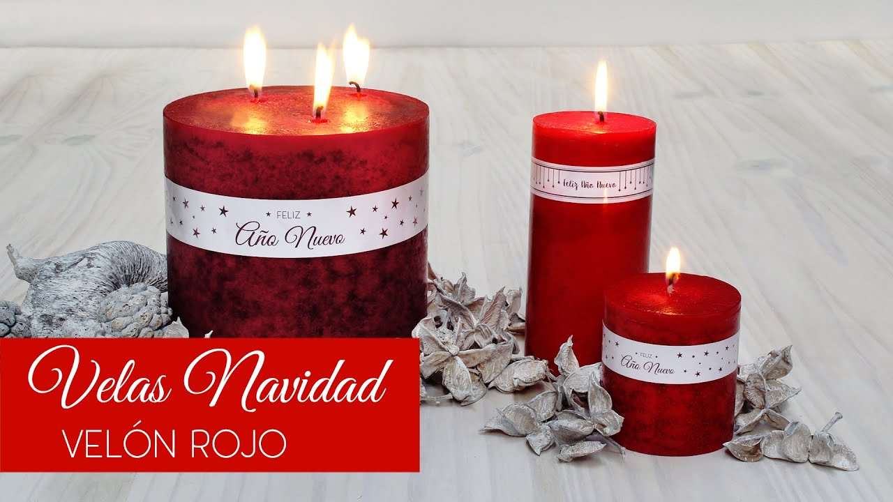 Velas Navidad Vel n Rojo