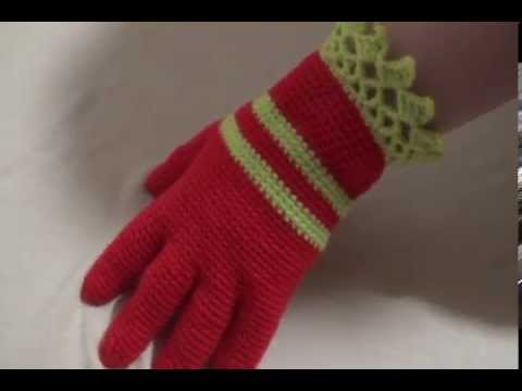 Вязание перчаток крючком ютуб