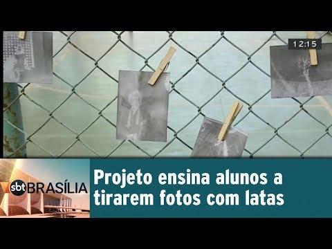 Projeto ensina alunos a tirarem fotos com latas
