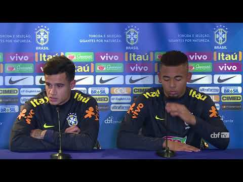 Seleção Brasileira: coletiva com Gabriel Jesus e Philippe Coutinho  - 12/11/2017