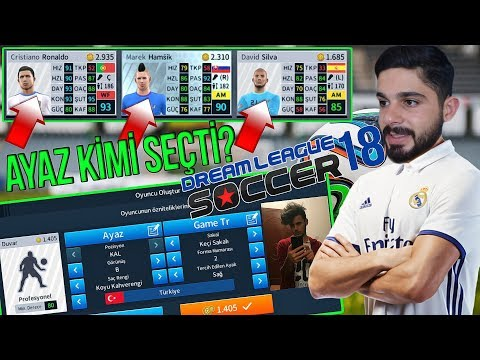 Görmeden Ayaz GameTR İle Kadro Kurma Challenge ! Dream League Soccer 2018
