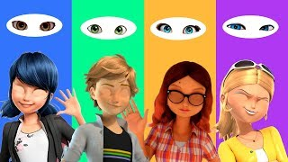 Wrong Eyes Ladybug Adrien Agreste Marinette Dupain Cheng Alya Chloé Render Finger Family Song