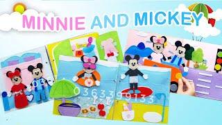 Minnie And Mickey Go To The Beach | Chuột Minnie Và Mickey Đi Tắm Biển | Minnie Quiet Book