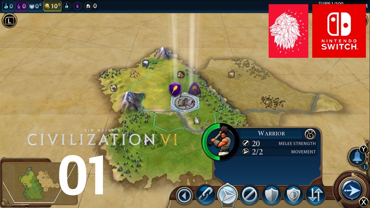 Civilization 6 Switch Gameplay Walkthrough Part 1