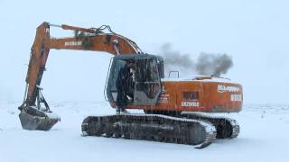Hitachi excavator cold start