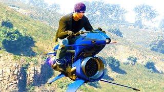 Ich habe mir ein neues fliegendes Motorrad gekauft!