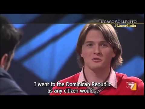 Amanda Knox Case: Raffaele Sollecito on Linea Gialla with English subtitles