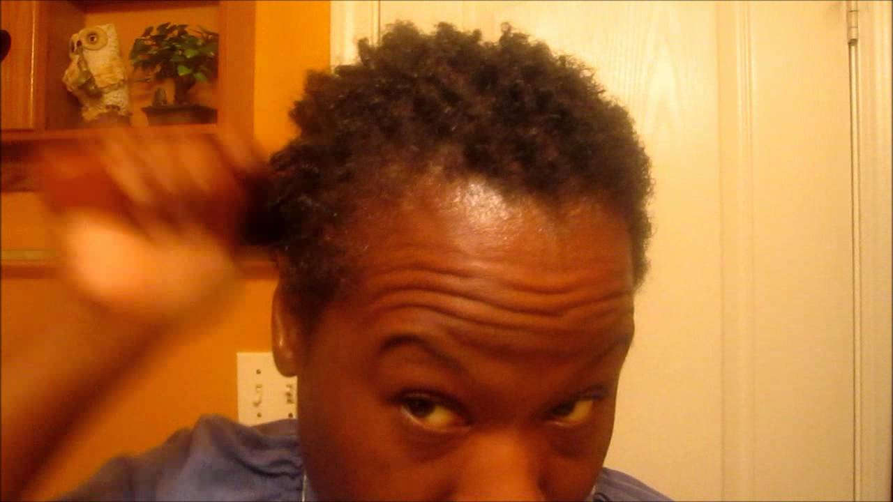 Coiling Twisting My Hair Using A Hair Brush Youtube
