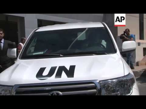 UN Under Secretary-General for Humanitarian Affairs leaves Syrian Socail Affairs Ministry