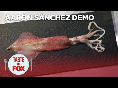 Aarón Sánchez Demonstrates How To Prepare Squid   TASTE OF FOX