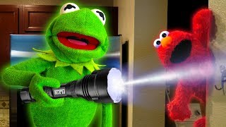 One of Are U Super Cereal's most viewed videos: Kermit the Frog and Elmo play Hide and Seek!