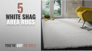 Top 10 White Shag Area Rugs [2018 ]: Safavieh California Shag Collection SG151-1010 White Area Rug
