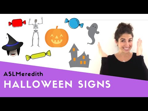 Learn ASL: Halloween Vocabulary In American Sign Language