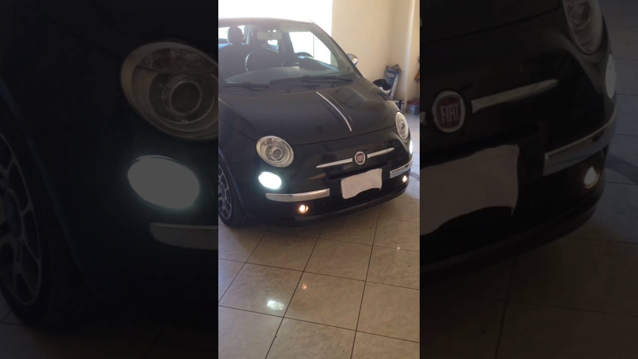 Lampadina Luci Diurne Fiat 500 : Fiat accensioni luci diurne e faretti coming living home youtube