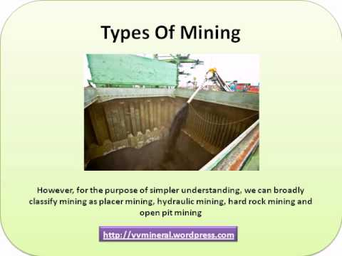 Various types of mining equipments