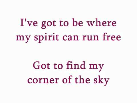 """Corner of the Sky"" from Pippin karaoke/instrumental (Key: C)"