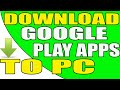 Gambar cover How to Download Google Play Store Apps directly to your Windows PC Without Using Software