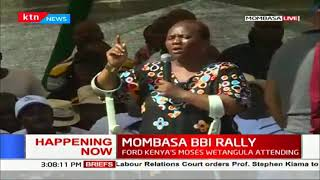 Senator Msuruve speaks on behalf of the disabled during #MOMBASA BBI RALLY