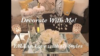 🍂Decorate With Me: FALL in Love with (7) Coffee Table Styles | Fall Decorating 🍂