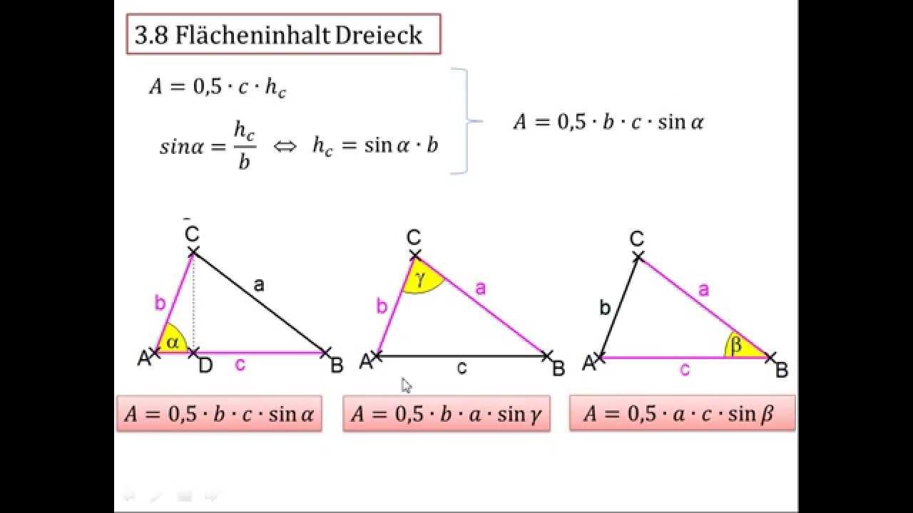 dreieck fläche formel