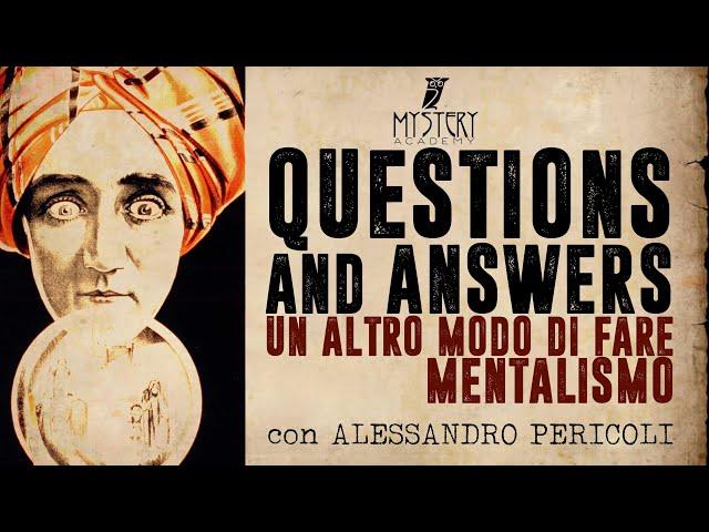 LO SHOW DI QUESTIONS & ANSWERS! con ALESSANDRO PERICOLI