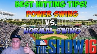 MLB The Show 16 - Best Hitting Tips - Power Swing vs. Normal Swing [EXPLAINED]