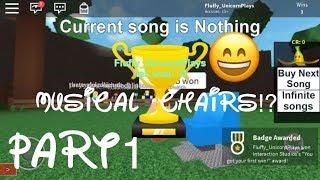 Roblox| Musical Chairs! PART 1I won?! | Memories!