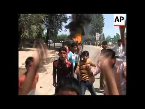 Protests against Indian security forces in towns across territory