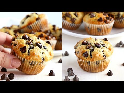 How To Make The Best Ever Greek Yogurt Chocolate Chip Muffins
