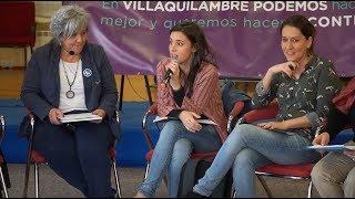 Irene Montero con mujeres precariadas en Villaquilambre (León) y Gijón
