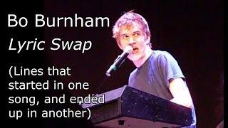 بو بورنهام: غنائي المبادلة (الخطوط التي بدأت في أغنية واحدة وانتهى في آخر)