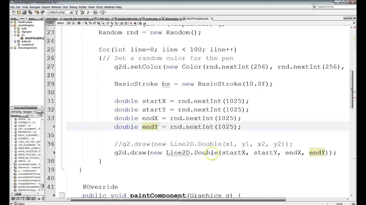 Line Drawing Java : Java d using line to draw lines youtube
