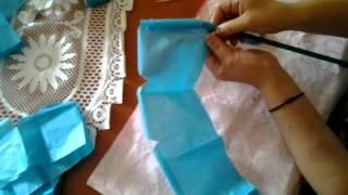 Rosas de papel de seda