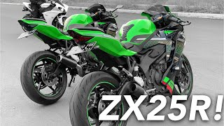 SUARA BANGOR ZX25R KNALPOT LONG & SHORT ZX25R! (Overview & Test Ride Kawasaki ZX25R 2020)
