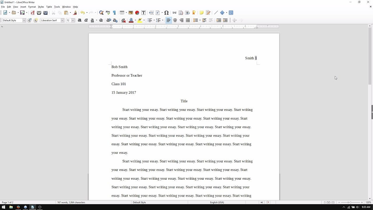 writing in mla format