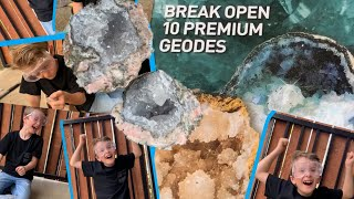 Smashing National Geographic Geodes! Rocks Crystals! What kind will I break open